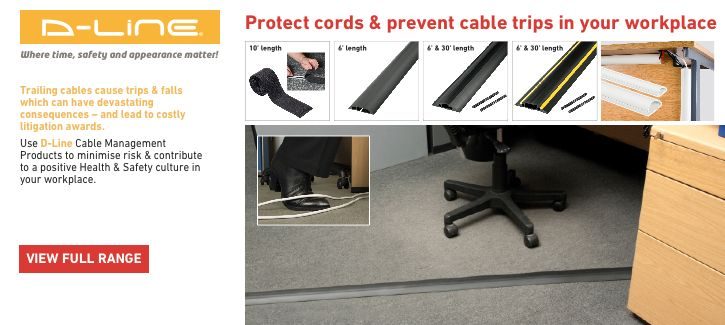 D-Line - Protect cords & prevent cable trips in your workplace - click to shop