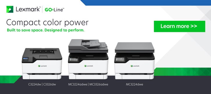 Lexmark Go Line -- Compact Color Power -- Click to learn more